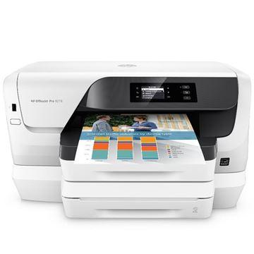 图片 惠普(HP) OfficeJet Pro 8216 A4彩色墨仓式喷墨打印机 黑白12ipm/彩色10ipm 自动双面打印 有线/无线网络打印 分辨率600×600dpi 适用耗材型号HP 955系列